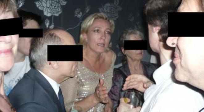 """Marine Le Pen au """"Local"""" d'Ayoub, lors de la première """"100 % French Pride"""" organisée par le site Fdesouche.com, en juin 2008. © Peggy Corlin / Rue89"""