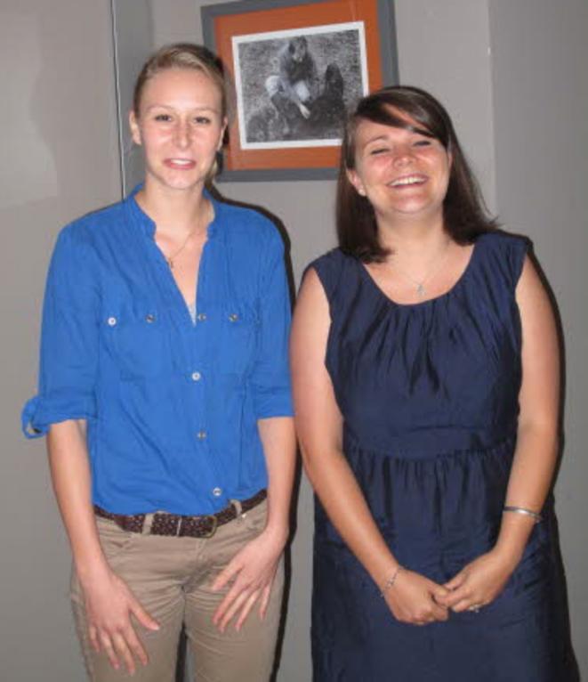 Marion Maréchal-Le Pen et Victoria Dufour, en juillet 2012.