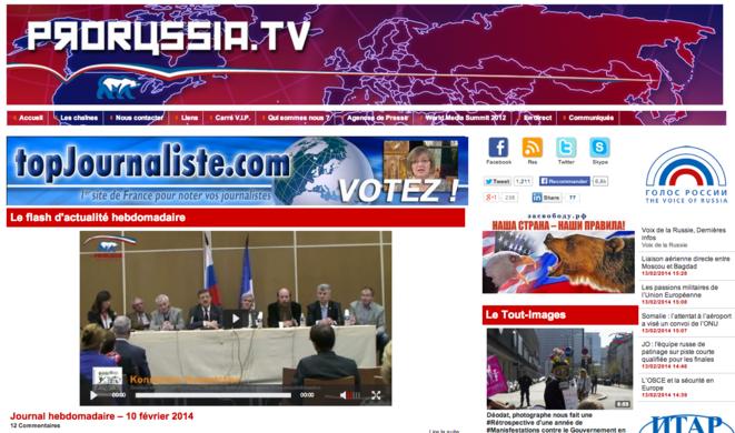 Le site ProRussia TV