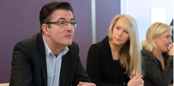 Philippe Lottiaux lors de la présentation de sa candidature par Marion Maréchal-Le Pen et Marine Le Pen, à Avignon. © dr