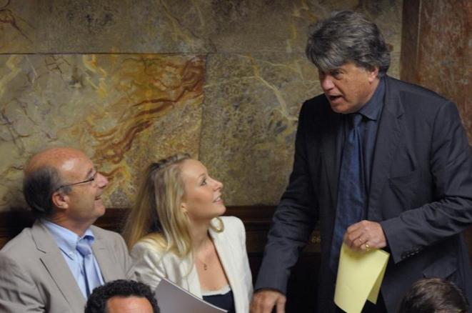 Jacques Bompard, Marion Maréchal-Le Pen et Gilbert Collard, trois députés d'extrême droite élus dans le sud-est. © Reuters