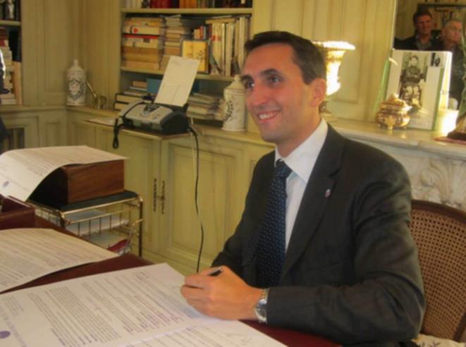Julien Aubert, candidat UMP à Carpentras et député du Vaucluse. © Flickr / Julien Aubert