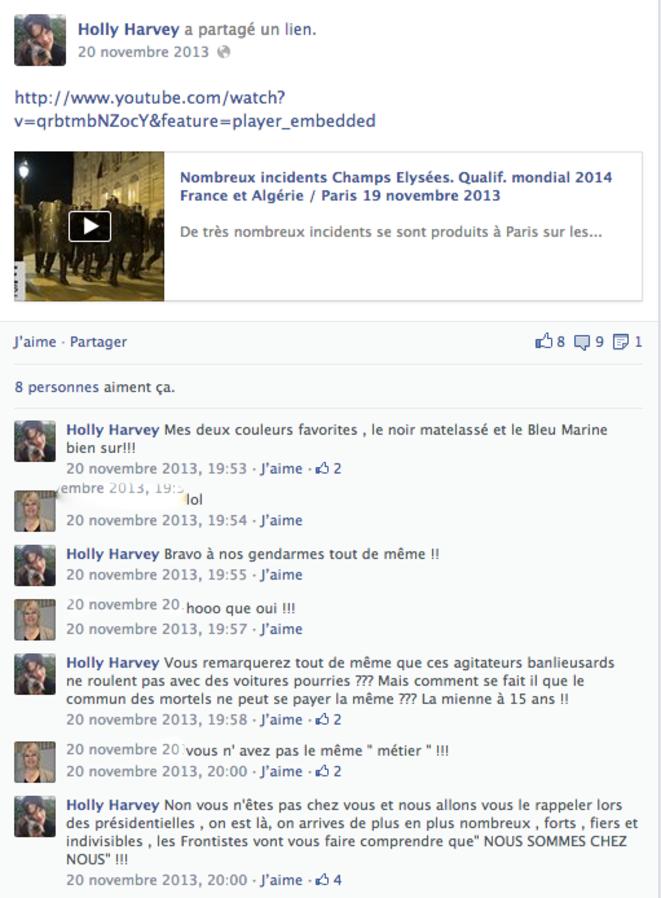 Vidéo postée par Holly Harvey-Truchet. Nous avons flouté le prénom de l'autre personne commentant.