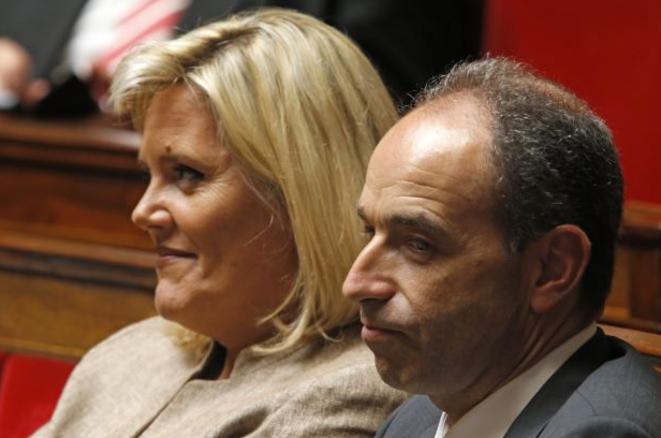 Michèle Tabarot et Jean-François Copé, côte à côte à l'Assemblée nationale. © Reuters