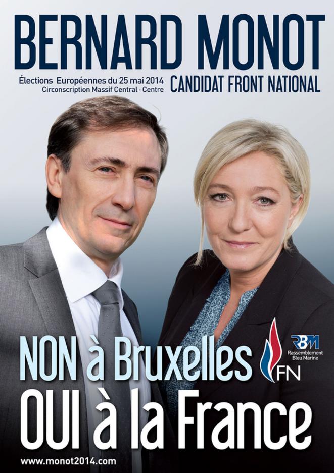 Bernard Monot, à la tête de la commission économie du FN, élu député européen FN en juin.