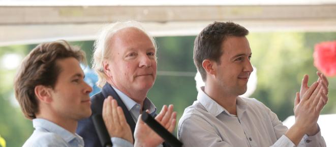 Geoffroy Didier, Brice Hortefeux et Guillaume Peltier.