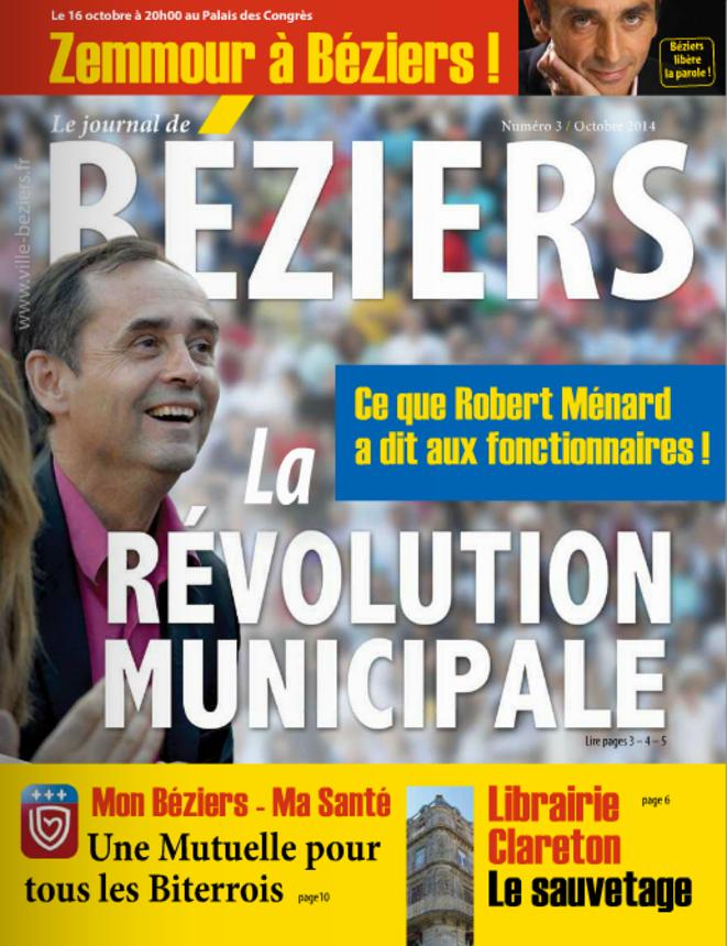 Le journal municipal de Béziers d'octobre 2014.