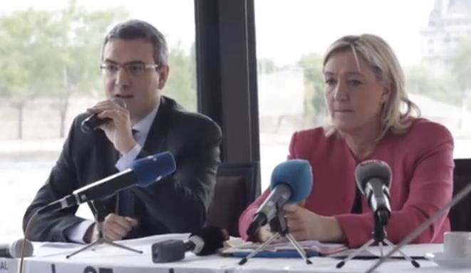 Marine Le Pen et Aymeric Chauprade en avril 2014.