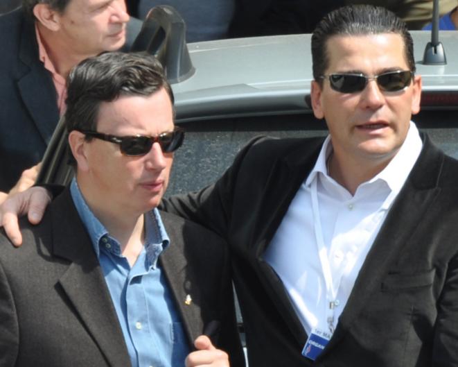 Edouard Ferrand et Frédéric Chatillon, le 1er mai 2011.