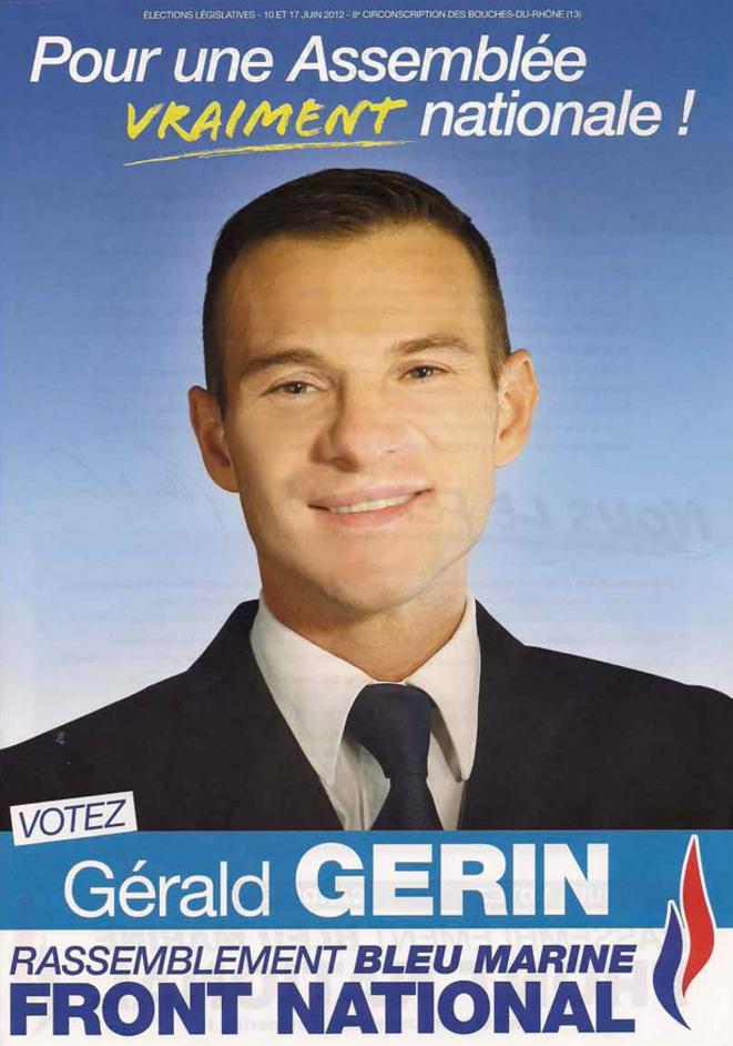 Gérald Gérin, candidat du FN aux législatives de 2012. © dr