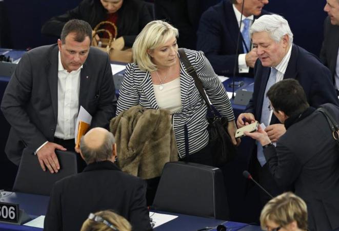 Au parlement européen, le 10 mars 2015.