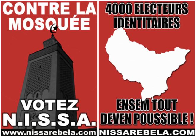 Affiches du mouvement Nissa Rebela.