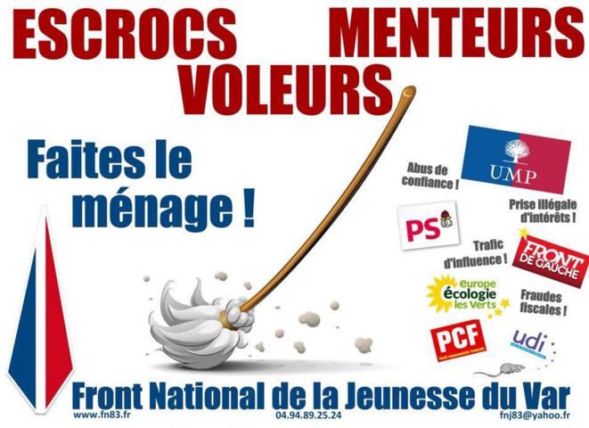 Affiche du Front national du Var.