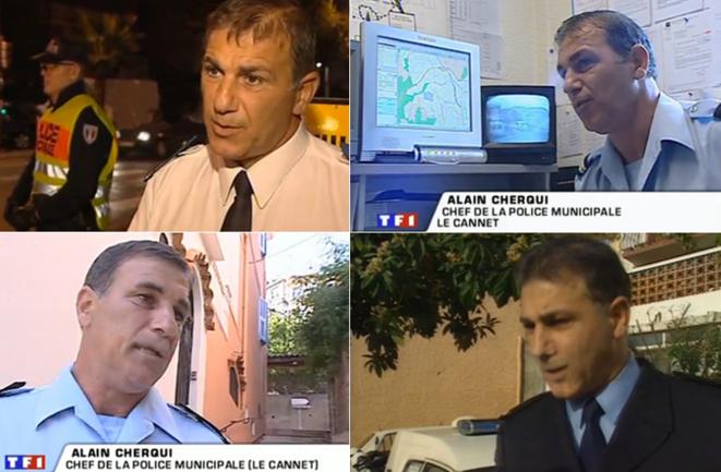 Alain Cherqui apparaît dans de nombreux reportages sur TF1 (ici en 2002, 2003 et 2008)
