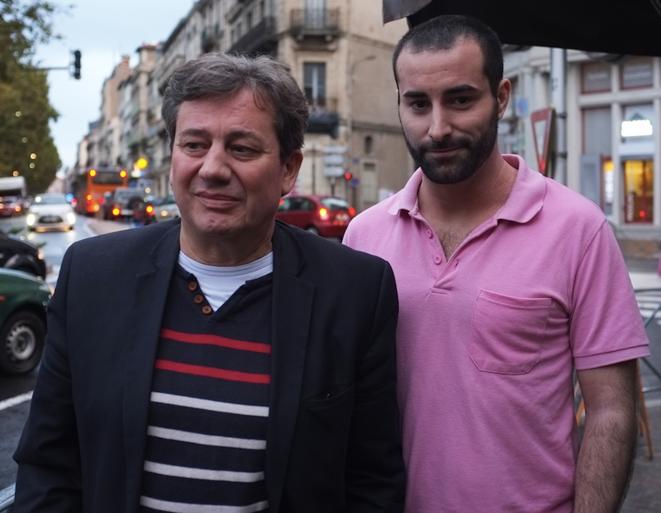 Christophe Coquemont et Cyril Hennion, militants socialistes de l'Union citoyenne humaniste de Béziers. © M.T. / Mediapart