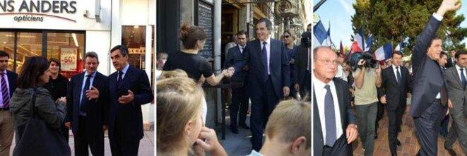 Eric Chomaudon, toujours aux côtés de François Fillon. Ici à Dreux le 24 octobre, à Lyon le 5 septembre, à Nice le 13 septembre.