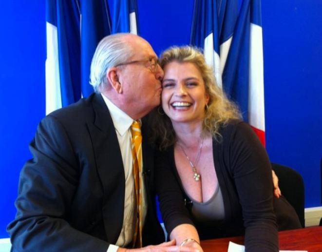 Marie d'Herbais est salariée du FN et présente chaque semaine le « Journal de bord » de Jean-Marie Le Pen. © dr