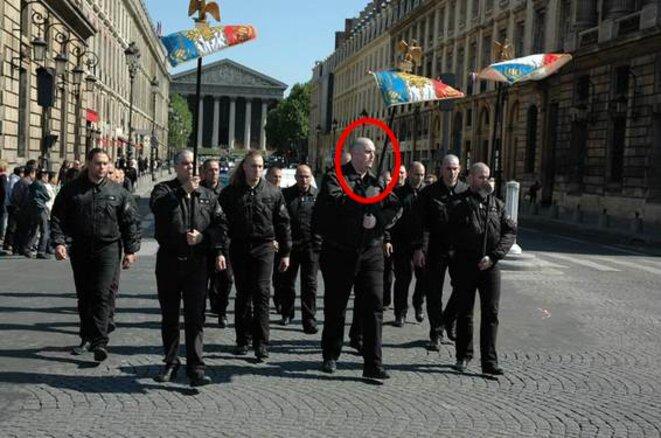 Olivier Vivien (cercle rouge) lui aussi avec les JNR, le 13 mai 2012.