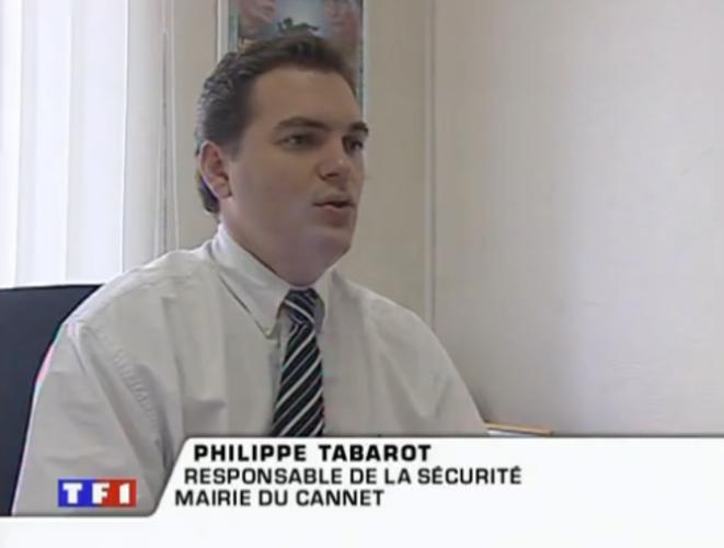 """Philippe Tabarot dans le reportage de TF1 sur les """"téléphones GPS"""", le 1er novembre 2002."""