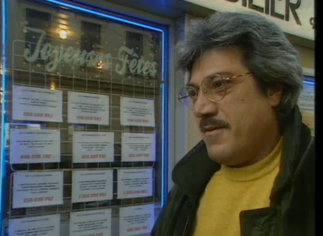 René d'Asta lors d'un micro-trottoir de TF1, diffusé le 9 janvier 1998.