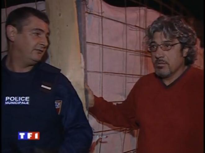 René d'Asta, présenté comme victime d'une tentative de cambriolage, dans un reportage de TF1 le 12 février 2002.