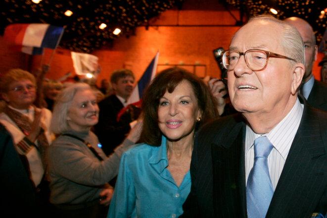 Jean-Marie et Jany Le Pen le 21 janvier 2007.