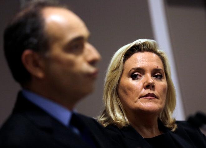 Michèle Tabarot, avec Jean-François Copé, le 13 novembre 2012. © Reuters