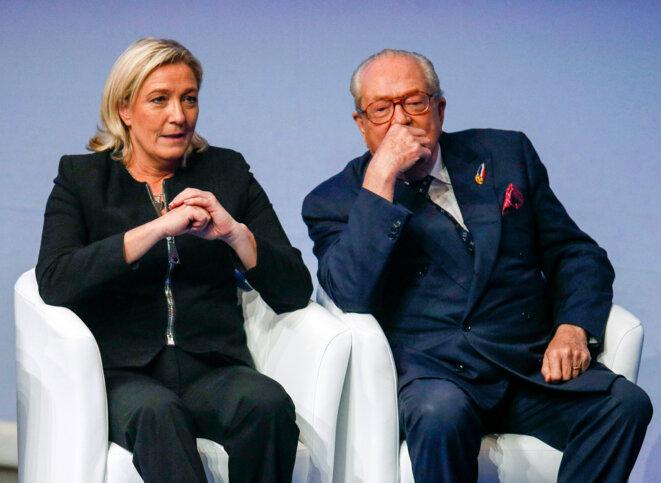 Les Le Pen au congrès du FN en novembre 2014. © Reuters