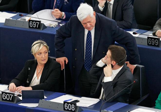 Au parlement européen, le 29 avril 2015.