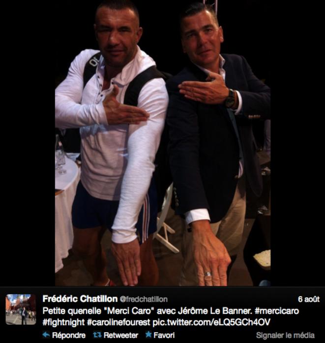 Frédéric Chatillon se prend en photo faisant le geste de la quenelle de Dieudonné, le 6 août 2013.