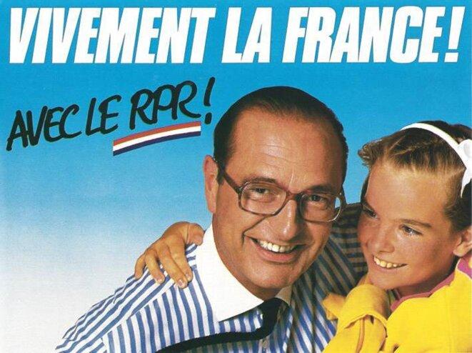 Affiche de J. Chirac en 1986.
