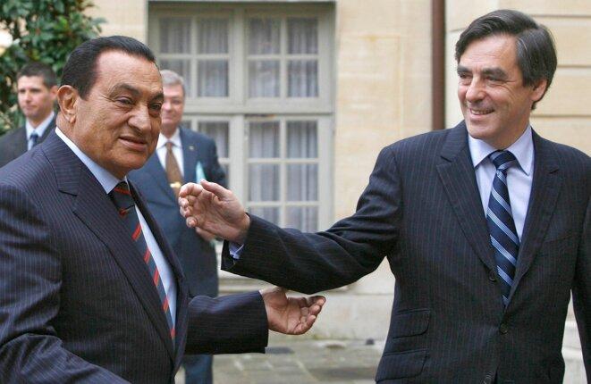 F. Fillon et H. Moubarak en 2007. © Reuters