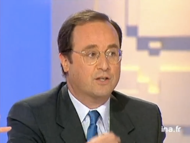 F. Hollande en 1999 face à N. Sarkozy