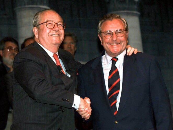 Jean-Marie Le Pen et Jean-Marie Le Chevallier, ex-maire FN de Toulon.
