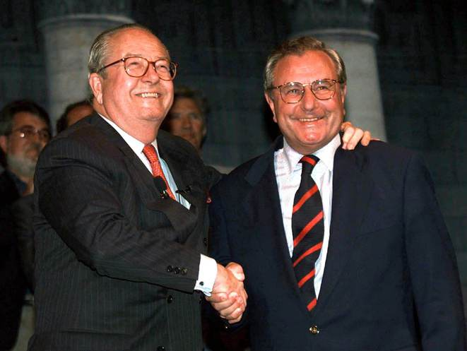 J-M. Le Pen et J-M. Chevallier. © Reuters