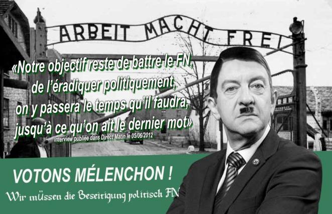 Le deuxième tract sur Jean-Luc Mélenchon.