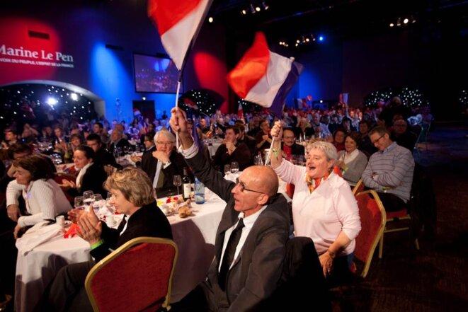 Au «Banquet des mille» du FN, le 19 novembre. © Thomas Haley