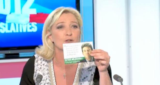Marine Le Pen sur France 3 Nord-Pas-de-Calais.