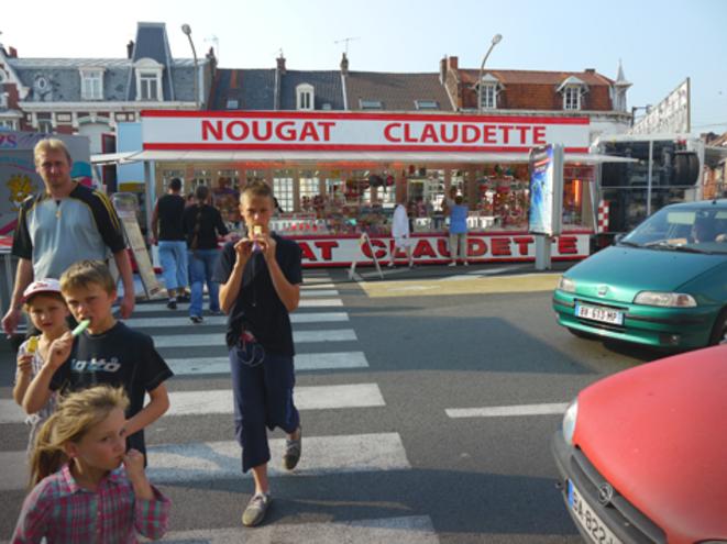 Pendant la Ducasse, fête foraine annuelle. © M.T.