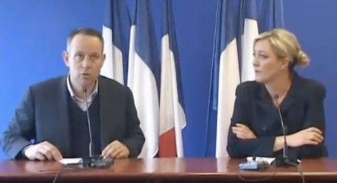 L. Ozon et M. Le Pen le 7 mars 2011.