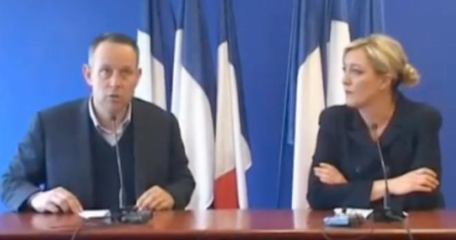 L. Ozon et M. Le Pen en mars 2011.