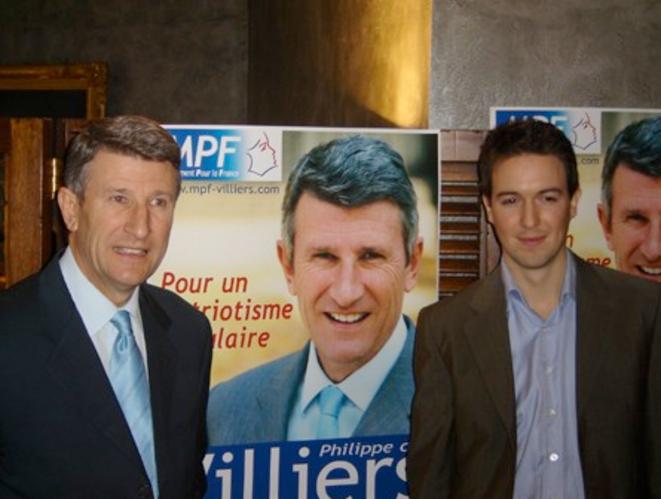 Avec Philippe de Villiers.