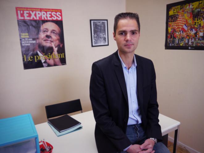 Pierre Ferrari à la permanence de son association citoyenne. © M.T.