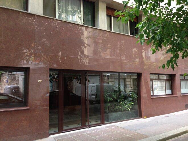 L'immeuble du 27 rue des Vignes, dans le XVIe arrondissement de Paris.