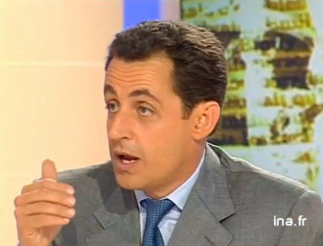 N. Sarkozy en 1999 face à F. Hollande