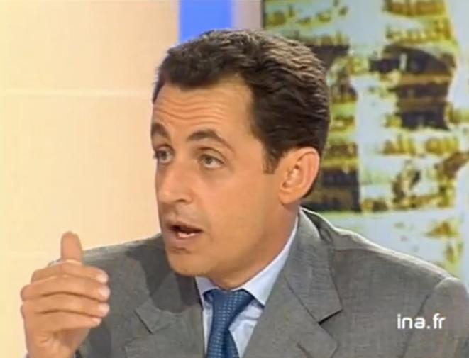 N. Sarkozy en 1999 face à F. Hollande