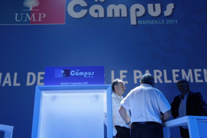 Au Campus UMP, le 3 septembre. © M. Turchi