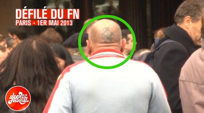 Le même Sergueï au 1er-Mai du FN, en 2013. © Capture d'écran Canal Plus