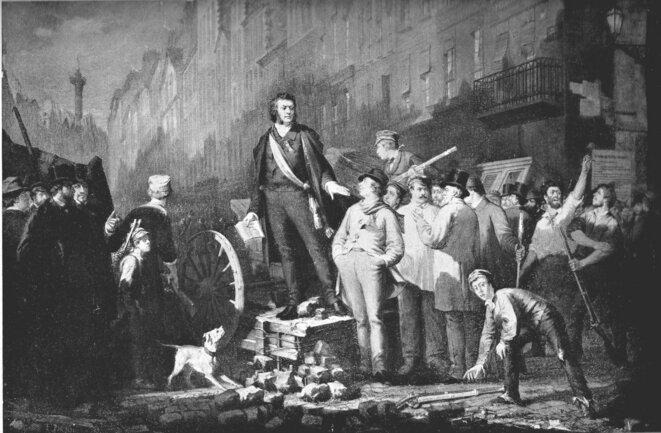 Alphonse Baudin sur sa barricade, le 3 décembre 1851