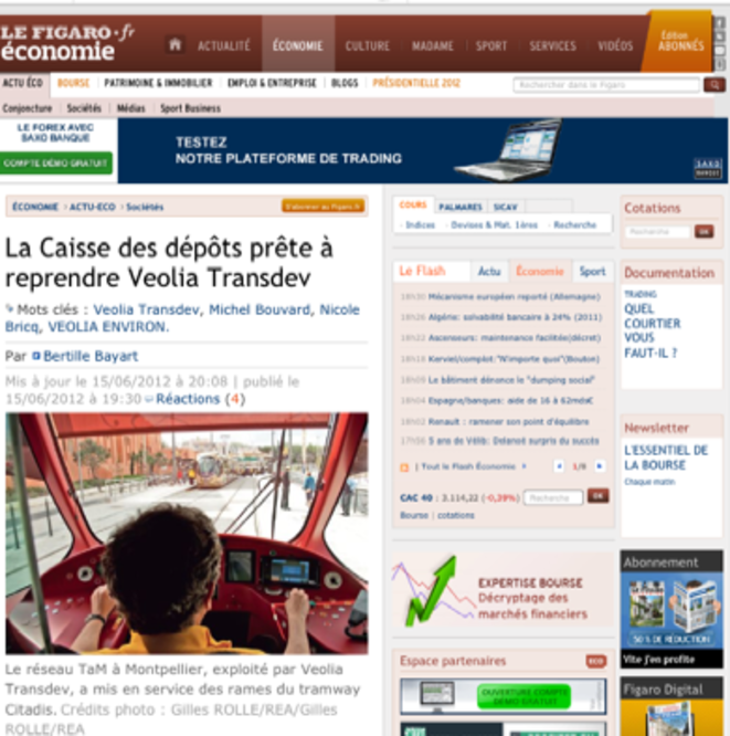 L'article du Figaro